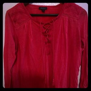 Red Lucky Brand Blouse